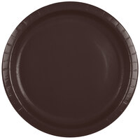 Creative Converting 503038B 10 inch Chocolate Brown Paper Banquet Plate - 240/Case