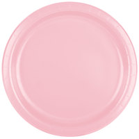 Creative Converting 47158B 9 inch Classic Pink Paper Dinner Plate - 240/Case