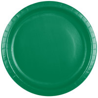 Creative Converting 50112B 10 inch Emerald Green Paper Banquet Plate - 240/Case
