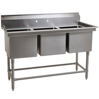 Eagle Group FN2048-3-14/3 Three 20 inch x 16 inch Bowl Stainless Steel Spec-Master Commercial Compartment Sink