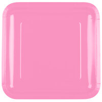 Creative Converting 463042 9 inch Candy Pink Square Paper Plate - 180/Case