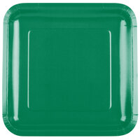 Creative Converting 463261 9 inch Emerald Green Square Paper Dinner Plate - 180/Case