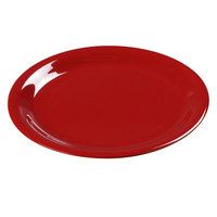 Carlisle 3300405 9 inch Red Sierrus Narrow Rim Dinner Plate - 24 / Case