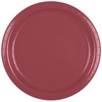 Creative Converting 473122B 9 inch Burgundy Paper Dinner Plate - 240/Case