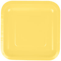 Creative Converting 453266 7 inch Mimosa Square Paper Lunch Plate - 180/Case