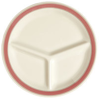 GET CP-10-OX Diamond Oxford 10 1/4 inch Three Compartment Plate - 12 / Case