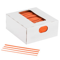 Bedford Industries Inc. 4 inch Orange Laminated Bag Twist Ties - 2000 / Box