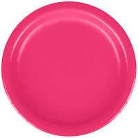 Creative Converting 79177B 7 inch Hot Magenta Paper Lunch Plate - 240/Case