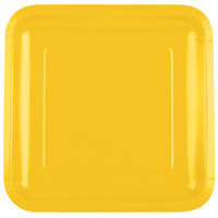 Creative Converting 463269 9 inch School Bus Yellow Square Paper Plate - 180 / Case