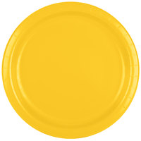 Creative Converting 471021B 9 inch School Bus Yellow Paper Plate - 240 / Case