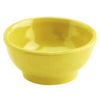 Elite Global Solutions D3C Tuscany 2 oz. Mustard Yellow Melamine Ramekin