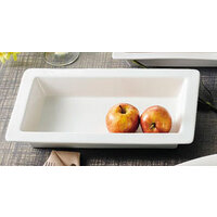 CAC TSP-41 White China Rectangular Tray 14 inch x 8 1/2 inch - 12/Case