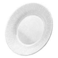 Elite Global Solutions D10TE Beach Bums White 10 inch Round Melamine Plate
