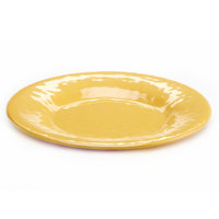 Elite Global Solutions D12P Tuscany 12 1/4 inch Mustard Yellow Melamine Plate