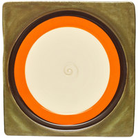 Elite Global Solutions V951 Sweet Tart Orange 9 1/2 inch Square Plate