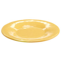 Elite Global Solutions D8P Tuscany 8 1/2 inch Mustard Yellow Melamine Plate