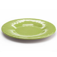 Elite Global Solutions D10P Tuscany 10 1/4 inch Weeping Willow Green Melamine Plate