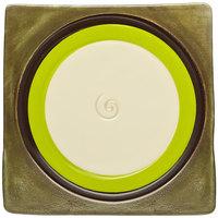 Elite Global Solutions V951 Sweet Tart Green Apple 9 1/2 inch Square Plate