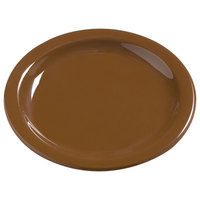 Carlisle 4385443 Toffee Dayton 7 1/4 inch Melamine Salad Plate - 48 / Case