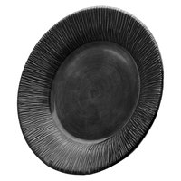 Elite Global Solutions D1214TE Beach Bums Black 12 inch Round Melamine Plate