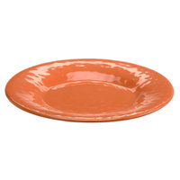 Elite Global Solutions D12P Tuscany 12 1/4 inch Sunburn Terra Cotta Melamine Plate