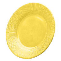 Elite Global Solutions D10TE Beach Bums Yellow 10 inch Round Melamine Plate