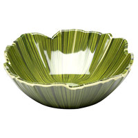 Elite Global Solutions DB712PL Tropicana Design Green 26 oz. Palm Leaf Melamine Bowl