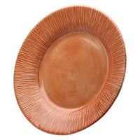 Elite Global Solutions D1214TE Beach Bums Sunburn Terra Cotta 12 inch Round Melamine Plate