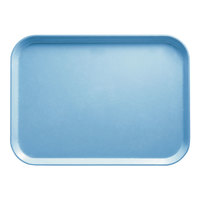 Cambro 1014518 10 5/8 inch x 13 3/4 inch Rectangular Robin Egg Blue Fiberglass Camtray - 12/Case