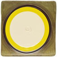 Elite Global Solutions V951 Sweet Tart Lemon 9 1/2 inch Square Plate