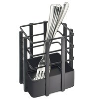 Cal Mil 1544-13 4 inch x 4 inch Black Soho Single Slot Metal Flatware Organizer