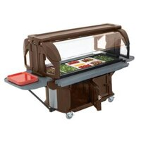 Cambro VBRUHD6146 Bronze 6' Versa Ultra Food / Salad Bar with Storage and Heavy-Duty Casters