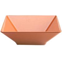 Elite Global Solutions M1212SQ Symmetry Sunburn Terra Cotta 4.75 Qt. Square Melamine Bowl