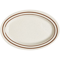 GET OP-120-U Ultraware 12 inch x 9 inch Ironstone Oval Platter - 12/Case