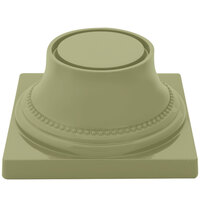 Elite Global Solutions M74P Symmetry Weeping Willow Green 3 3/4 inch Pedestal Base