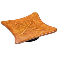 Elite Global Solutions V61 Artist X Marks the Spot 6 1/4 inch Melamine Square Pedestal Plate