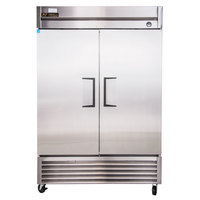True T-49 55 inch Two Section Solid Door Reach in Refrigerator - 43.5 Cu. Ft.