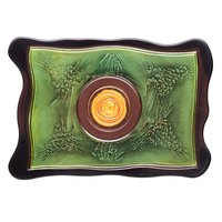 Elite Global Solutions V1115 Artist 15 inch Rectangular Pine Cone Patterned Melamine Platter