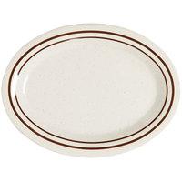 GET OP-215-U Ultraware 11 1/2 inch x 8 inch Ironstone Oval Platter - 24 / Case