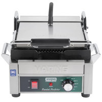 Waring WPG150C 9 3/4 inch x 9 1/4 inch Grooved Top and Bottom Panini Sandwich Grill - 120V (Canadian Use Only)