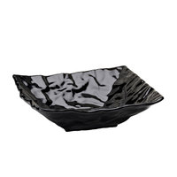 Elite Global Solutions M12123 Crinkled Paper Black 3 Qt. Square Melamine Bowl