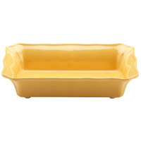 Elite Global Solutions M107RC The Bakers 1.5 Qt. Yellow Rectangular Melamine Dish