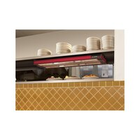 Hatco UGA-24D Ultra-Glo 24 inch x 22 inch Dual Ceramic Infrared Strip Food Warmer with Attached Controls - 1350W