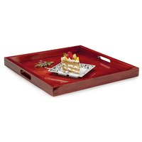 GET RST-2020-M 21 inch Square Hardwood Room Service Tray - Mahogany