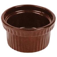 Tablecraft CW1610MAS 10.5 oz. Maroon Speckle Cast Aluminum Souffle Bowl with Ridges