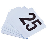 1 to 25 Plastic Table Number