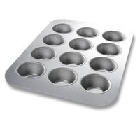 Chicago Metallic 45225 12 Cup Glazed Cupcake / Muffin Pan - 12 7/8 inch x 17 7/8 inch