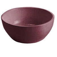 Tablecraft CW11082MRS 10.5 oz. Maroon Speckle Cast Aluminum Small Round Bowl