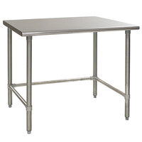 Eagle Group T2460GTEM 24 inch x 60 inch Open Base Stainless Steel Commercial Work Table