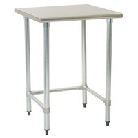 Eagle Group T2436GTEM 24 inch x 36 inch Open Base Stainless Steel Commercial Work Table